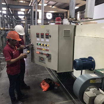 During burner inspection on preventive maintenance schedule :  Furnace Engineer by CHS-ASIA Col.,LTD